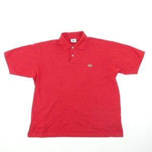 Vintage Lacoste Mens Sz XL 6 Red Polo Shirt A7420